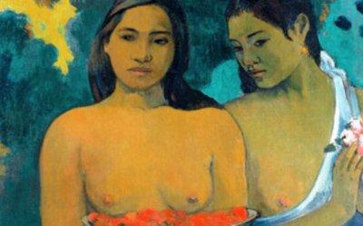 Poster Les Seins aux fleurs rouges